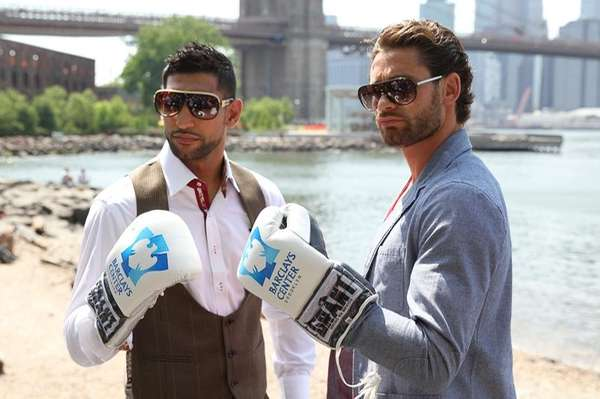 Amir Khan, left, takes on Long Island's Chris