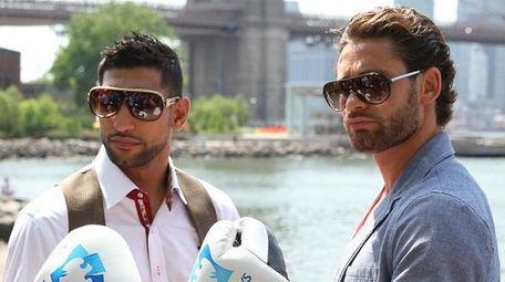Amir Khan, left, takes on Long Island's Chris