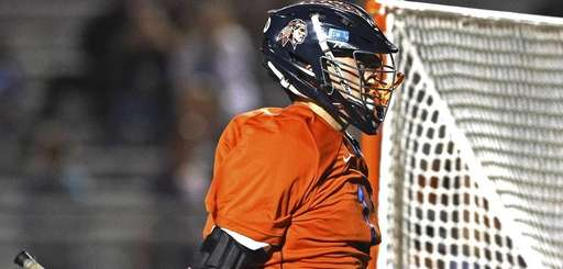 Manhasset attacker Matthew Gavin celebrates after scoring a