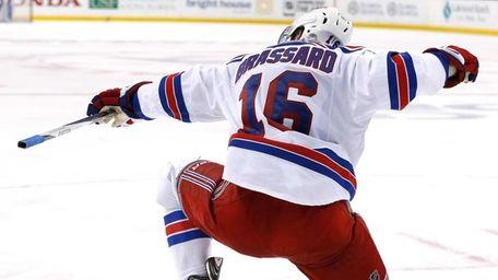 Derick Brassard #16 of the New York Rangers