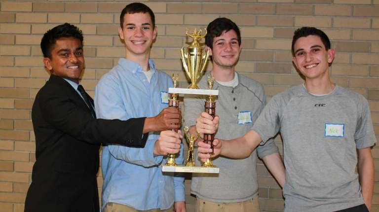 Farmingdale High School team placed first in the