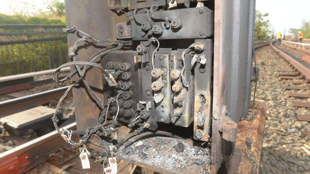 The MTA says copper cable was stolen from