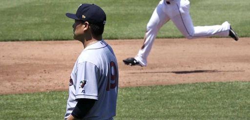 New York Yankees pitcher Masahiro Tanaka, in a