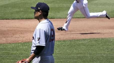 New York Yankees pitcher Masahiro Tanaka, in a