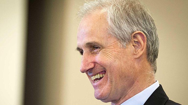 Outgoing LIPA chief executive John McMahon announced his