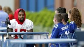 New York Giants wide receiver Odell Beckham Jr.,