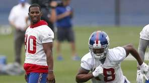 New York Giants wide receivers Victor Cruz (80),