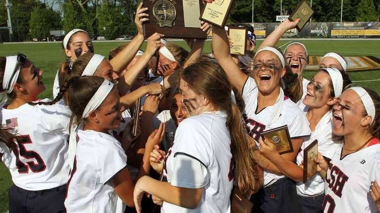 Cold Spring Harbor celebrates its win over Oyster