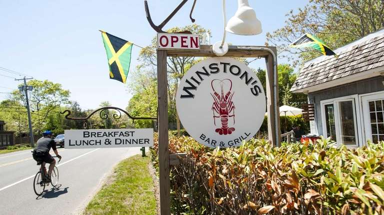 Winston's Bar and Grill in East Hampton.