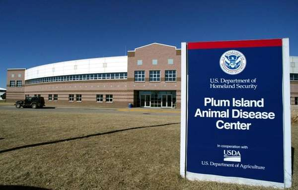 The Plum Island Animal Disease Center is shown