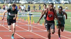 Hills East's Sam Chimezie finishes first in the