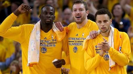 From left, Draymond Green, David Lee and Stephen