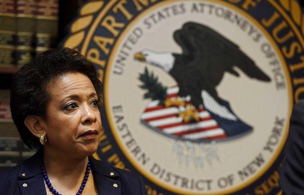 Attorney General Loretta E. Lynch attends a press