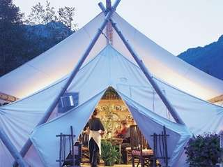 GO GLAMPING If staking a tent is not