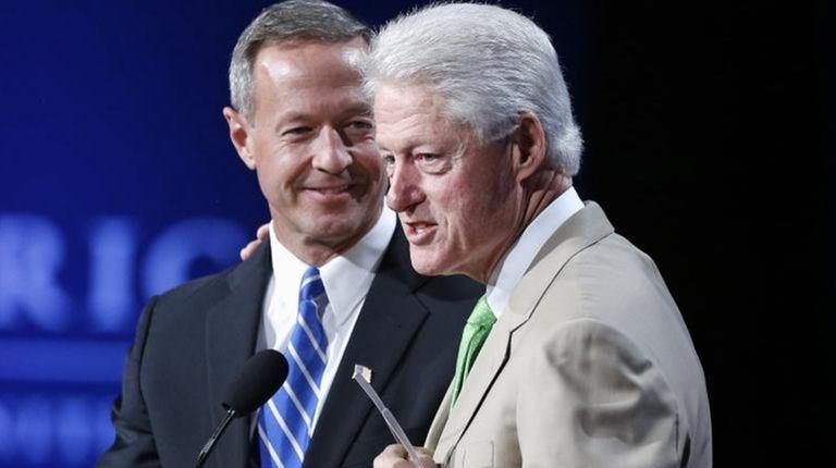 Former Maryland Gov. Martin O'Malley with former President