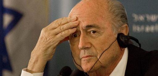 FIFA President Sepp Blatter attends a press conference