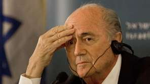FIFA President Sepp Blatter attends a press conference