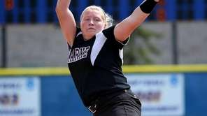 Clarke starting pitcher Sarah Cornell delivers a pitch