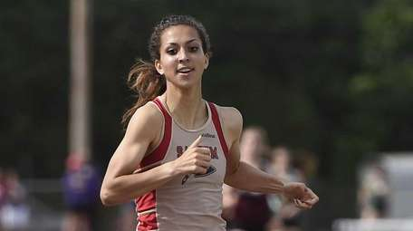 Sachem East's Alexandra DeCicco competes in the Division