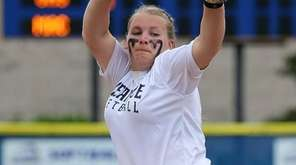 Oceanside starting pitcher Sabrina Seeger delivers a pitch