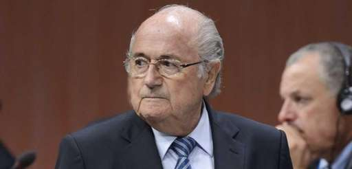 FIFA President Sepp Blatter looks on after he