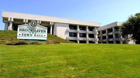 Brookhaven Town Hall in Farmingville is shown in