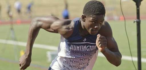 Huntington's Infinite Tucker competes in the Division II