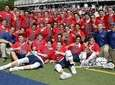 The Cold Spring Harbor boys lacrosse team poses