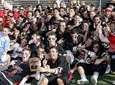The Syosset Braves boys lacrosse team poses with