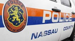 A Nassau police vehicle is shown on Monday,