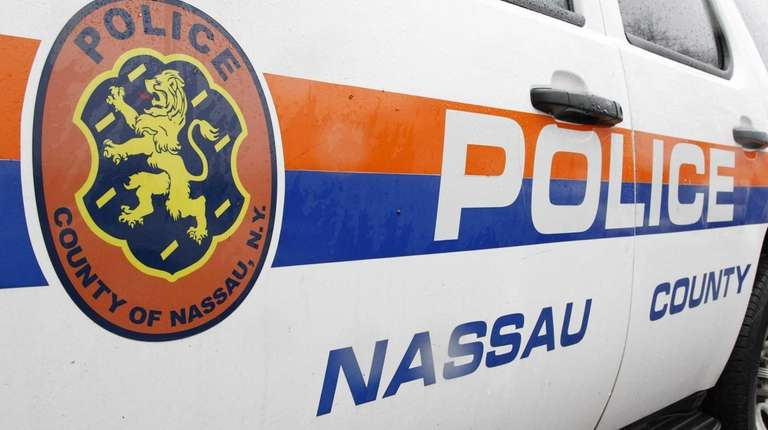A Nassau police vehicle on Monday, April 20,