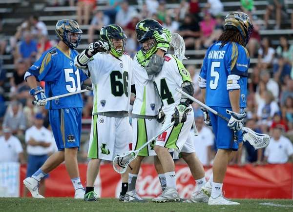 Tommy Palasek of the New York Lizards celebrates