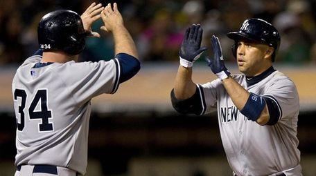 Carlos Beltran of the New York Yankees is
