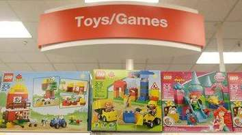 Lego toys are displayed at a Target Store