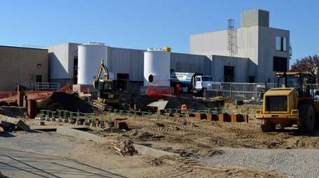 Work at the Bay Park Sewage Treatment Plant