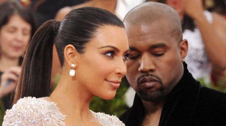 Kim Kardashian and Kanye West at The Metropolitan
