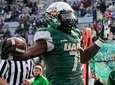 UAB running back Jordan Howard scores a touchdown