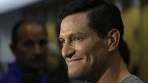 New York Giants punter Steve Weatherford speaks to