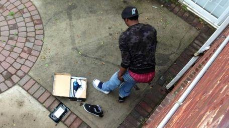 Police said a burglary suspect in Hempstead Village