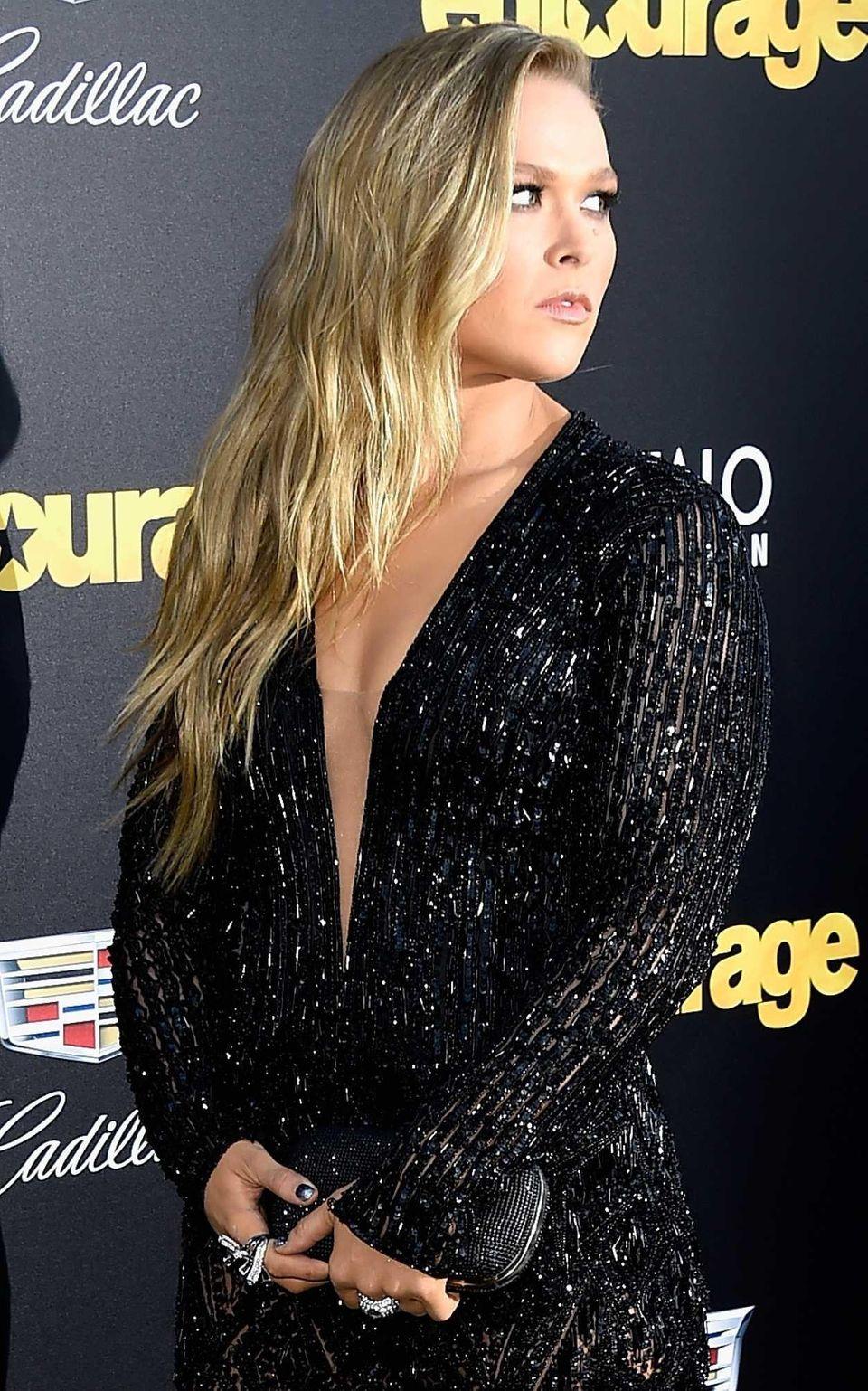 WESTWOOD, CA - JUNE 01: Actress Ronda Rousey