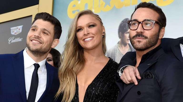 From left, Jerry Ferrara, Ronda Rousey and Jeremy