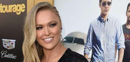 Ronda Rousey attends the premiere of Warner Bros.