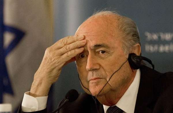 FIFA president Sepp Blatter attends a news conference