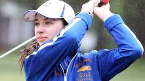 Ashley Harding from Kellenberg watches her drive at
