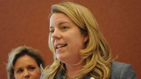 Suffolk County Legis. Kara Hahn, seen in a