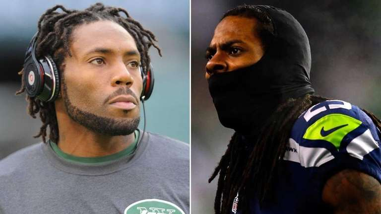 This composite image shows Jets cornerback Antonio Cromartie,