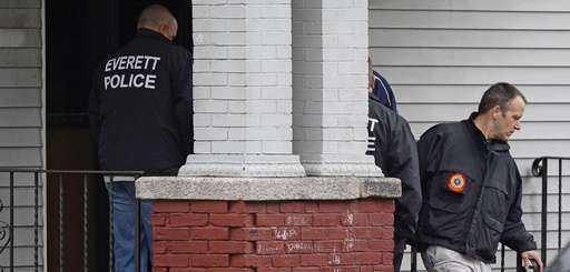 Police and FBI search the home of a