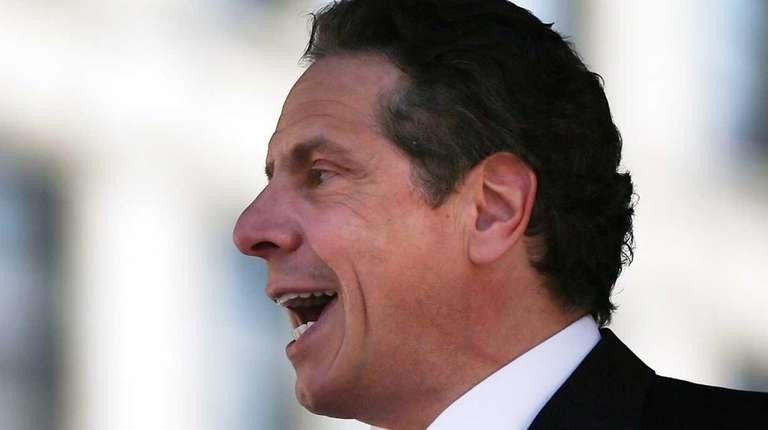 New York Gov. Andrew M. Cuomo speaks to
