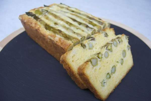 Layers of asparagus in this quick bread form