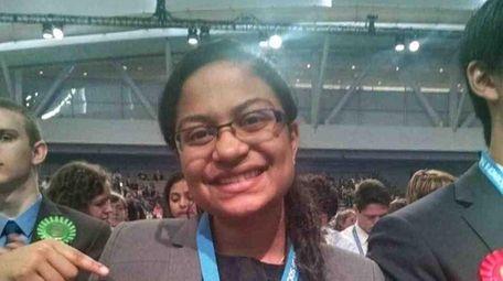 Niyati Desai, a senior at Ward Melville High